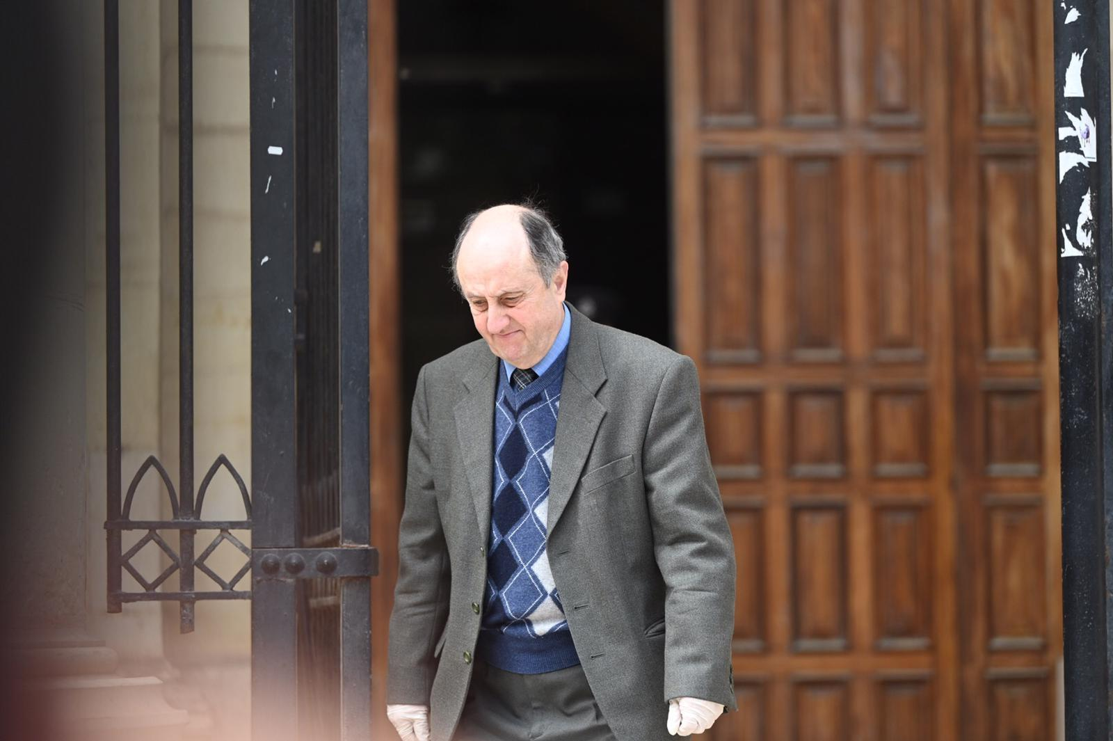 Anthony Mangion, who was project architect of the site next to the house that collapsed, killing Miriam Pace, leaves court. Photo: Mark Zammit Cordina