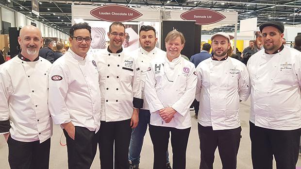 Stefan Hogan, Mark McBride, Manuel Schembri (Radisson Golden Sands), Johan Saliba, Steve Munkley, chief director of The Salon Culinaire, Jonathan Zammit and Mark Tabone.