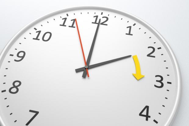 The clocks are normally changed in March and October.