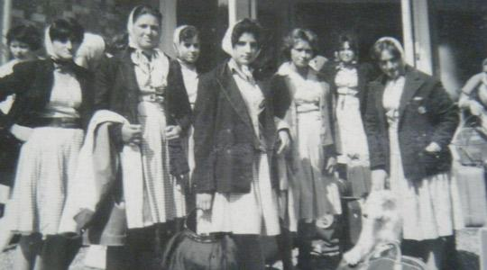 Image show students of the late 1950s and early 1960s.