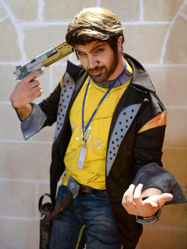 A man in costume poses for a photograph during the 2017 Comic Con at The Mediterranean Conference Centre in Valletta on December 3. Photo: Matthew Mirabelli
