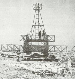Transmitter for Mark 1 gunlaying radar. The photo does not say where it was shot.