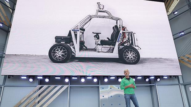 Waymo CEO John Krafcik speaks during the opening keynote address at the Google I/O 2018 conference. Photo: AFP