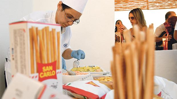 Apple Core Foods prepared snacks and dinner, using San Carlo and Beretta products, among others.