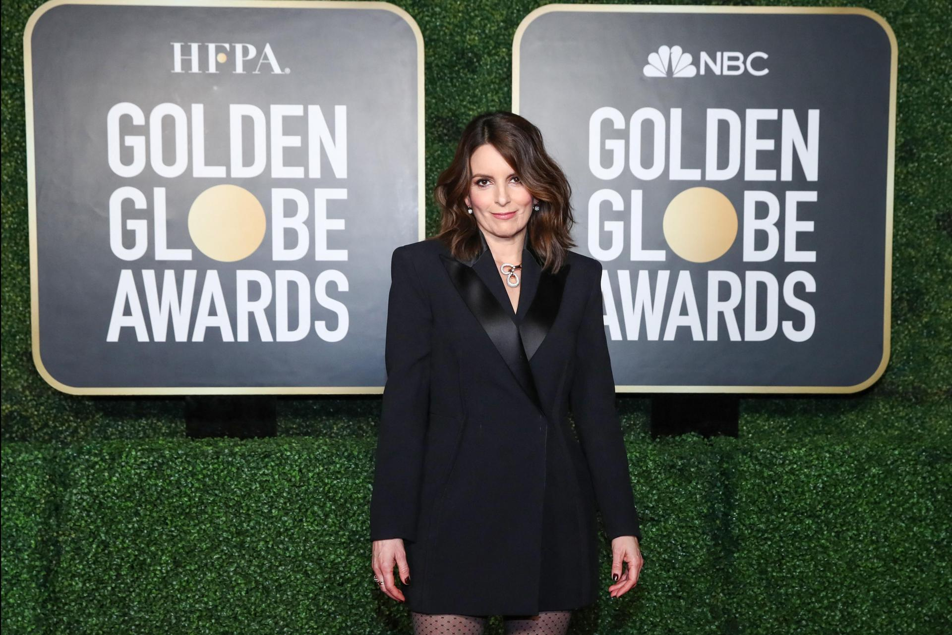 Tina Fey, one of the co-presenters of the show. Photo: Cindy Ord/Nbcuniversal/AFP
