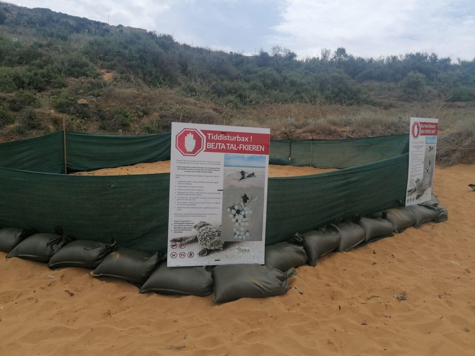 The protected nesting area. Photo: ERA