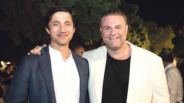 GO plc chief executive officer Nikhil Patil with Joseph Calleja at the tenor's reception held after the concert at the Granaries in Floriana, sponsored by GO.