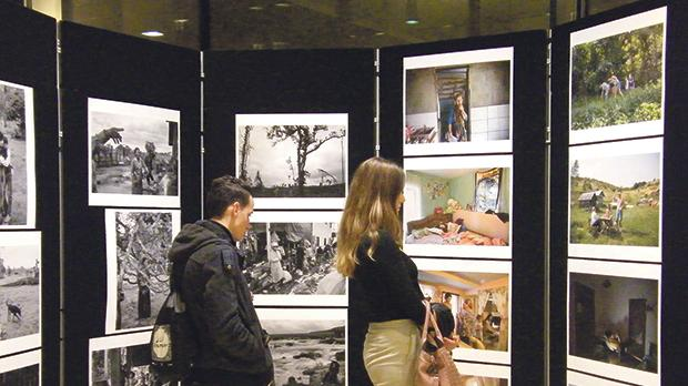 Visitors at the exhibition They Defend Our Freedoms – 30 years of the Sakharov Prize at the Parliament in Valletta.