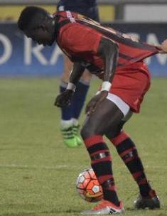 Haruna Garba was named man of the match. This is a file photo.