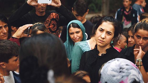 Nadia Murad in a scene from On Her Shoulders.
