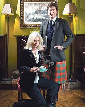 Rory Bruce, who runs Babington's with Chiara Bedini. They are the great-grandchildren of Isabel Cargill.