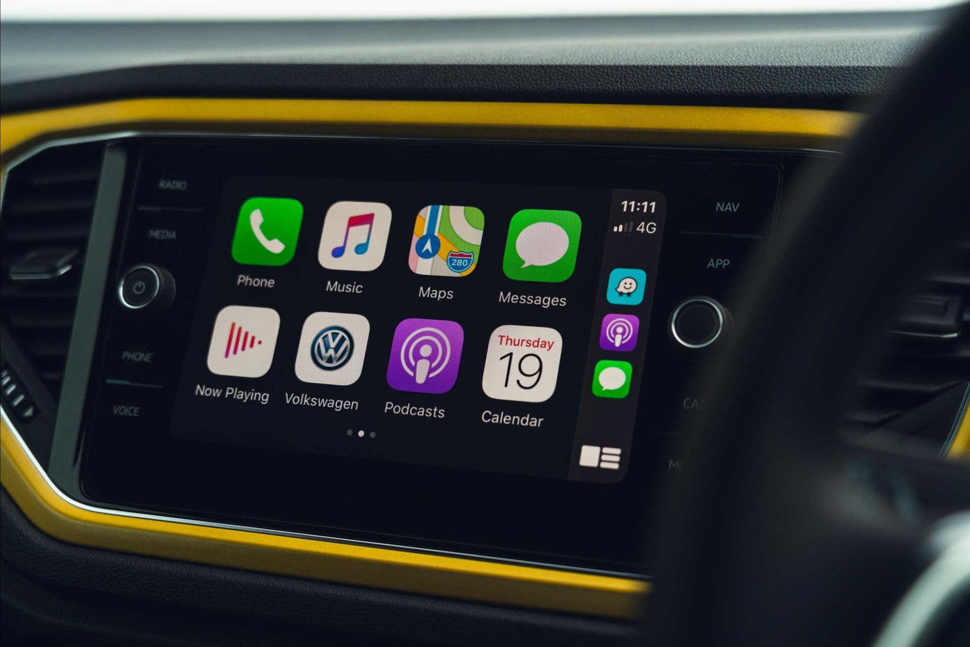 Apple CarPlay is included in the T-Roc's infotainment setup.