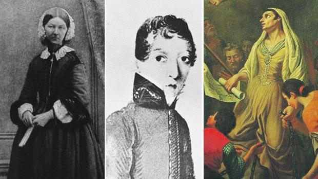 (From right) Caterina Vitale, probably the first female chemist on record in Malta; Dr James Barry, a female doctor disguised as a man; and Florence Nightingale. Photos provided by Susanna Hoe