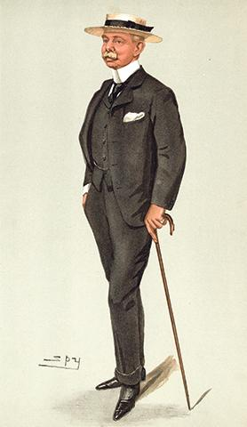 Sir Herbert Plumer by Spy, Vanity Fair, 1902.