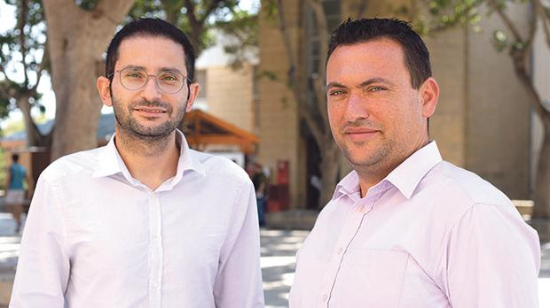 Researchers Alan Deidun (right) and Adam Gauci. Photo: James Moffett