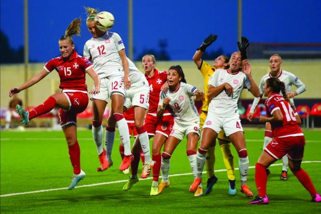 Denmark too strong for Malta women
