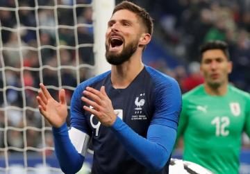 Watch: Giroud penalty gives France win, Mbappe injured