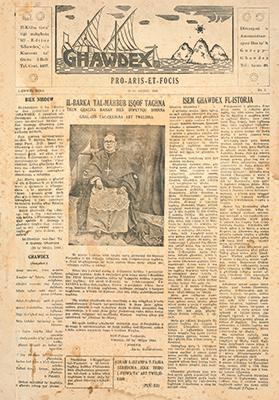 The first issue of Għawdex on June 10, 1945.