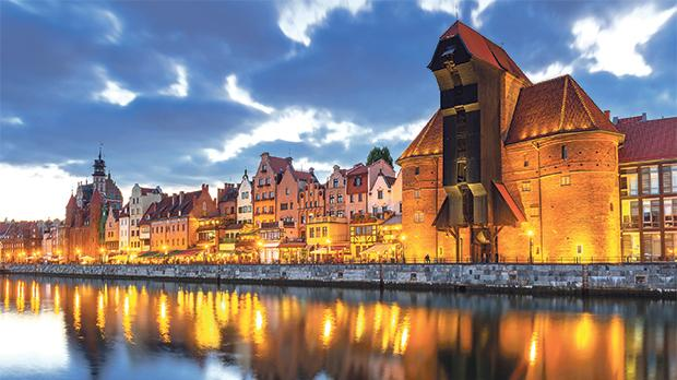 The oldest port crane in Europe is in Gdansk. Photo: Polish Tourist Office