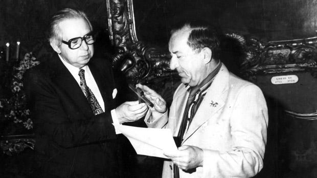 Mintoff sworn in PM in 1981.