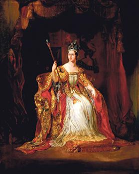 Coronation portrait of Queen Victoria.