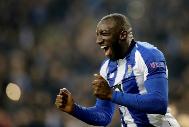 FC Porto's Moussa Marega celebrates scoring their third goal