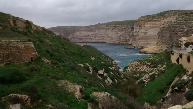 Cliffs off Xlendi Bay, Gozo. Photo: Antoine Muscat
