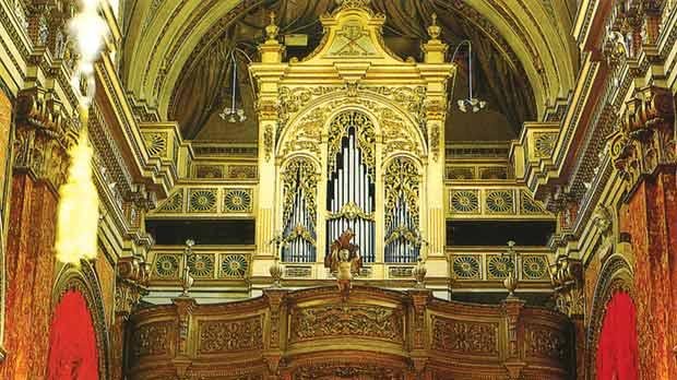 The organ loft built by Vittoriosa craftsmen. Photos: Courtesy of the collegiate church of St Lawrence – Vittoriosa.