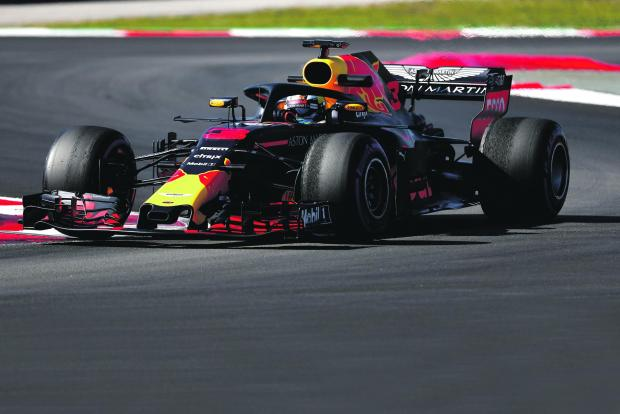 Daniel Ricciardo of Red Bull during testing.