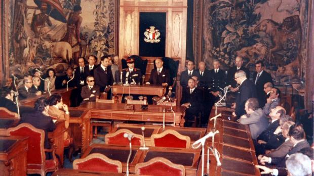 Addressing Parliament in May 1976. Photo: DOI