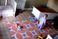 Incredible footage shows boy, 2, rescuing twin trapped under furniture