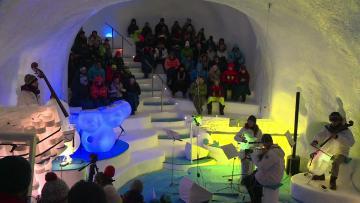 Ice instruments melt musical boundaries in Italian Alps