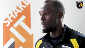 Watch: Bolt ready to play for his footballing future | Video: AFP