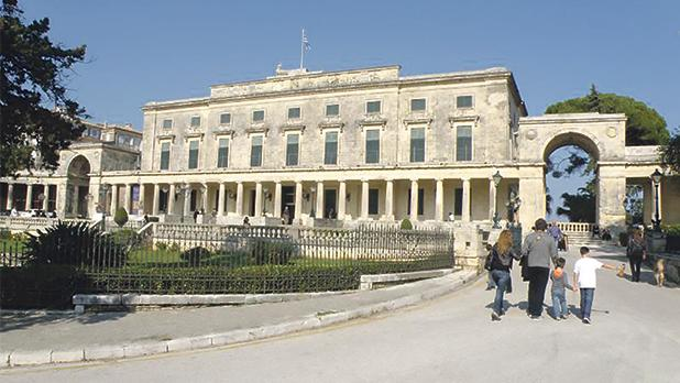 The former British Lord High Commissioner's residence, also known as the Palace, in Corfu town, built by skilled Maltese stonemasons using stone imported from Malta. Several Maltese individuals are honoured for their merits at the Palace.