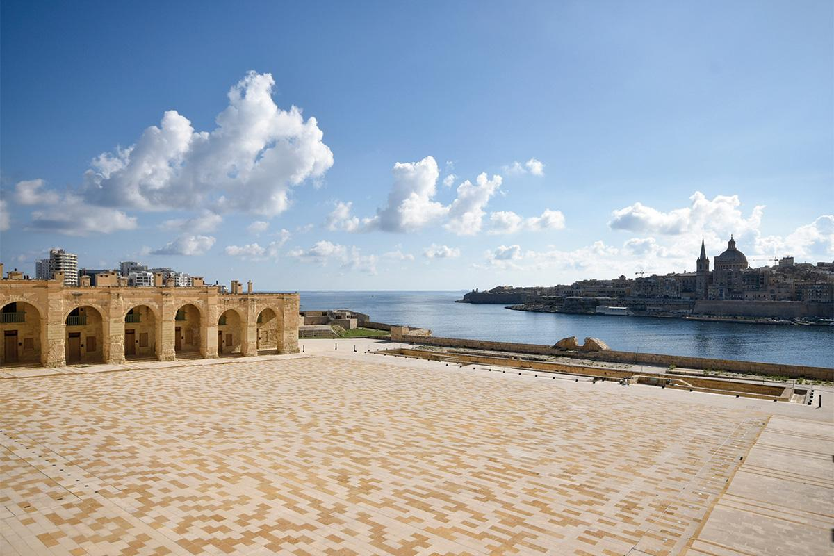 The parade grounds at Fort Manoel
