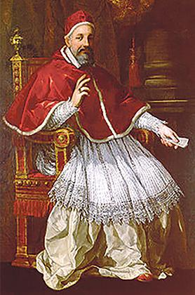 Pope Urbanus VIII, who was dragged in the many controversies following the 1636 murder in Vittoriosa.