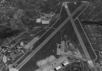 Ħal Far RAF airfield from where the bomber took off.