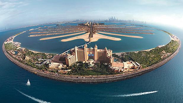 Atlantis The Palm Dubai aerial view