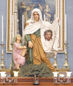 Mosta's statue of Veronica. Photo: Mark Micallef Perconte