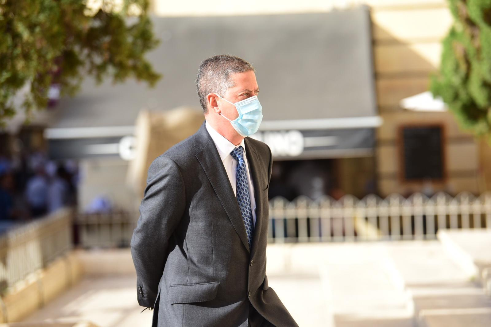 Paul Apap Bologna entering the Valletta law courts on Friday, October 2. Photo: Mark Zammit Cordina