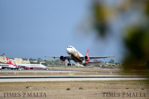 An Air Malta plane takes of after it was announced that the airline had broken even for the first time in 10 years. Photo: Jonathan Borg