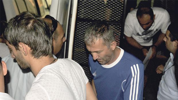 The suspected Sliema thieves being taken to court in September 2015. Photo: Chris Sant Fournier