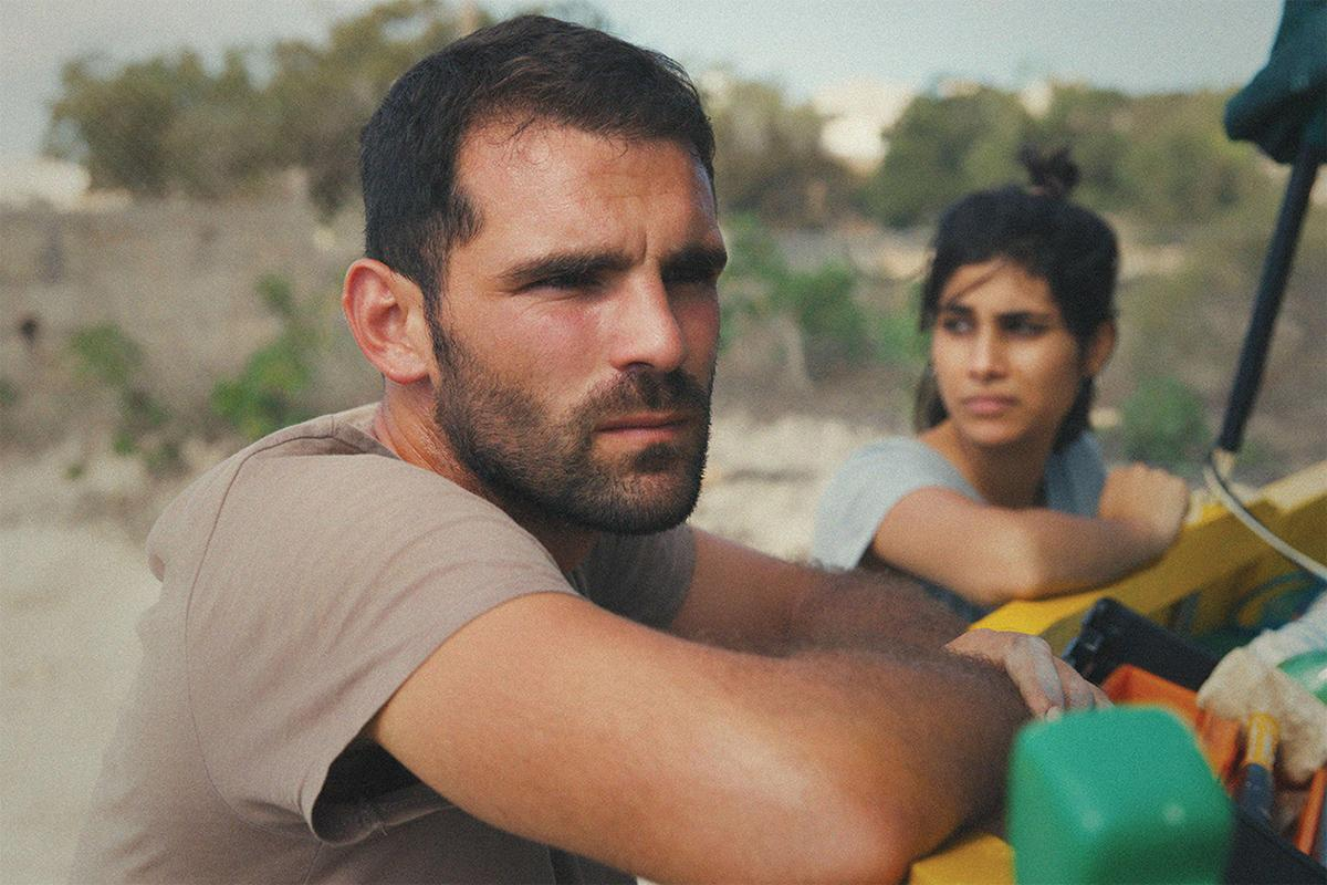 Jesmark with his girlfriend Denise, played by Michela Farrugia.