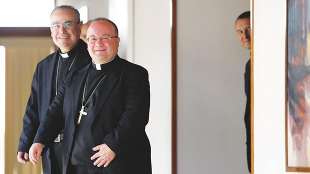 Mgr Scicluna is welcomed on a visit to Malta last month.