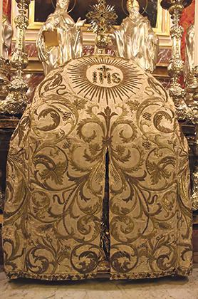 The early 19th-century tabernacle cover.