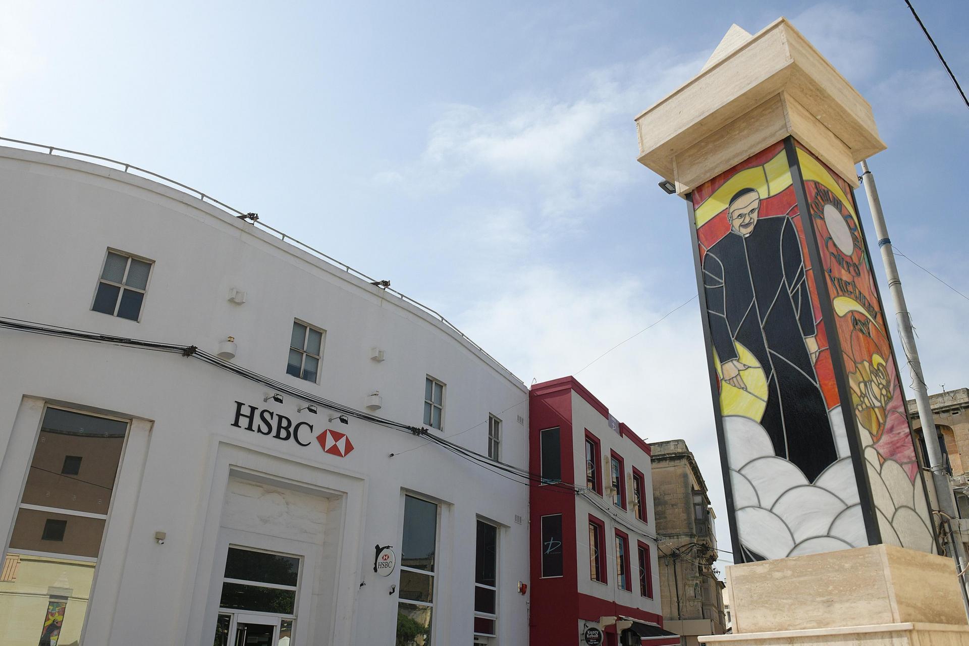 HSBC's Ħamrun branch is one of eight to close across the country. Photo: Matthew Mirabelli