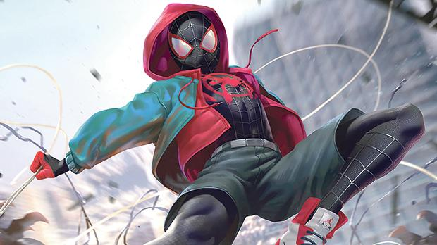 Miles Morales in Spider-Man: Into The Spider-Verse.