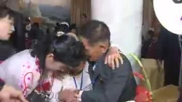Tears, joy as Korean families separated by war briefly reunite