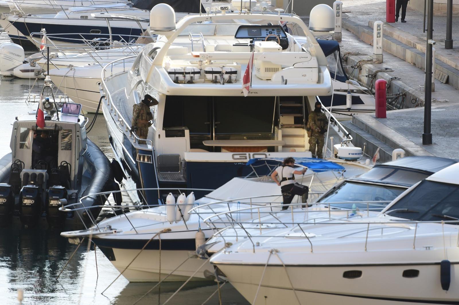Yorgen Fenech&rsquo;s family yacht <em>Gio</em>. Photo: Jonathan Borg