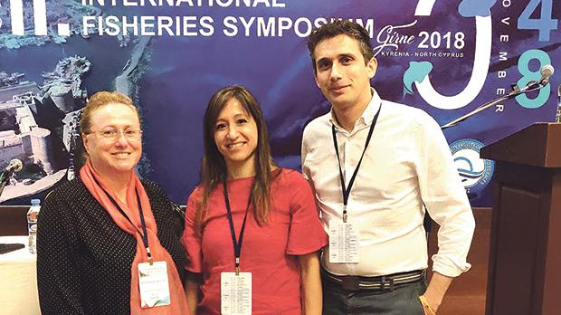 Adriana Vella, Sandra Agius Darmanin and Noel Vella at the international symposium in Cyprus.